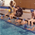 US water polo national team during exhibition game at Pepperdine University, 1982