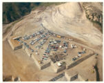 Aerial view of Malibu campus site during commencement of construction ceremony, 1971