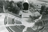 Bird's eye view of amphitheater and Stauffer Chapel, 1988