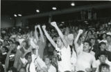 Fans cheering at a basketball game, 1988
