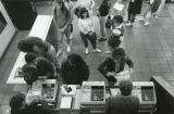 Students lining up to pay for books, 1988
