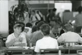 Students dining in Tyler Campus Center, 1988