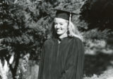 Photograph of  a student in academic regalia