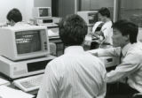 Photograph of  students working at their computers