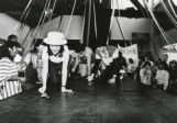 "Students participating in ""The Frog Olympics"" for Homecoming, 1984"