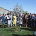 Reagan tree planting dedication at Pepperdine University, 1973