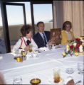 Nancy Reagan, William S. Banowsky, and Margaret Brock following Pepperdine University tree...