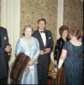 Ronald Reagan greeting guests at Pepperdine's Birth of a College dinner, 1970