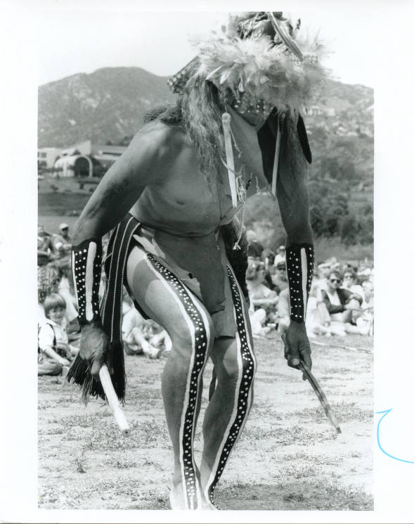 Chumash body painting and dance at Bluffs Park, early 1990s