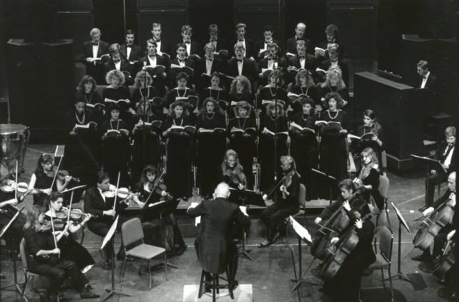 Pepperdine Symphony and Chorus in performance, 1988
